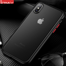 for iPhone XS Case Magic Shadow IPAKY MAX Colored Buttons Soft Bumper PC Hybrid Shockproof XR