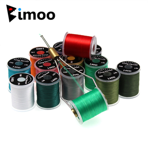 1PC 140D Fly Tying Thread Floss For size 6 ~ 14 Flies Trout Bass Fly Tying Material Red Olive Red Grey with Standard Bobbin(China)