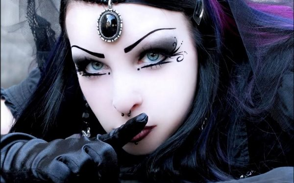 darkness gothic female beauty dark Home Decoration Canvas Poster Print