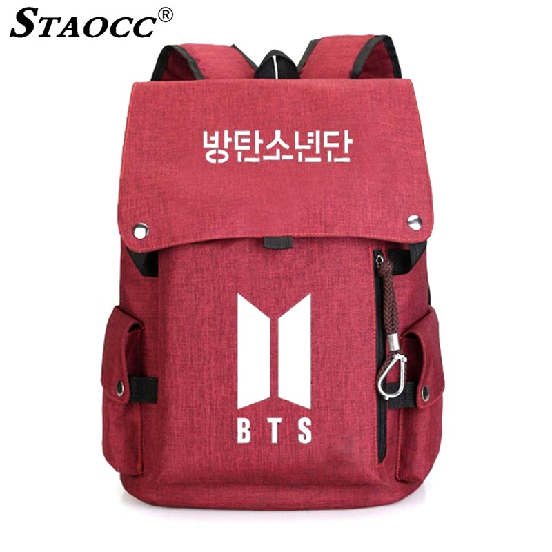 Fashion Lady Backpack Women Canvas BTS Drawstring Travel Backpack Female Laptop Mochila School Bag For Girls Book Bag Rucksack стоимость