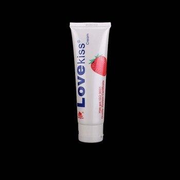 Lubricante para juguetes eróticos pareja beso comestible fruta aceite fresa crema 100ml lubricante a Base de agua Vagina lubricante Anal masturbador