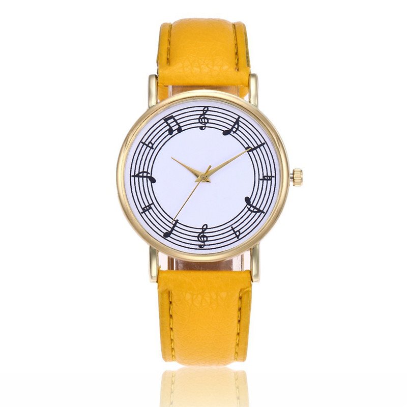 2019 Girls Watches Women Musical Note Quartz Montre Femme Women's Watch Leather Strip Clock Wristwatches Dropshipping