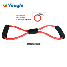2 pieces 8-Shaped Resistance Loop Band Tube for Yoga Fitness Pilates Workout Exercise Fitness Equipment Chest Developer