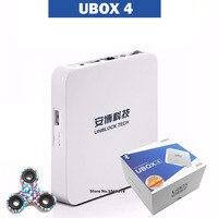 Zamorski Ubox UBOX4 z Wolnym Darem 4 HDMI Bluetooth Android 16g 8 rdzeni Nie Trzeba Żadnych Opłat konto na klawiaturze telefonu komputera