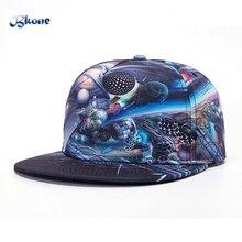 BKONE Hip Hop Cap Adjustable Wide Brim 3D Galaxy Universe Casquette Trucker Sun Hat Unisex Snapback Baseball Caps