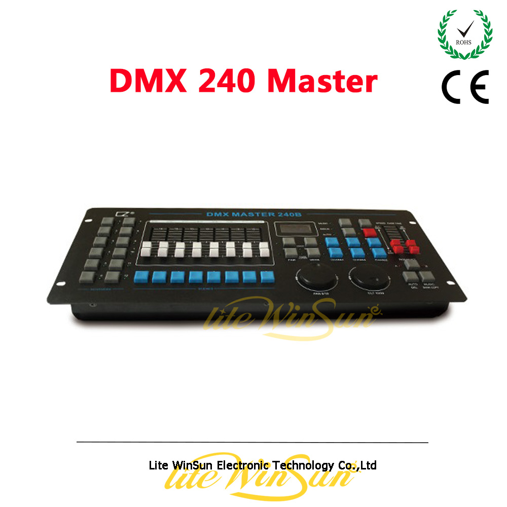Litewinsune DMX Master 240B Controller for Disco DJ Party Show LED Par Light Mini LED Wash Moving Head Lighting Console  free shipping 3wx36 rgb moving head wash professional dmx disco light show new product for 2016