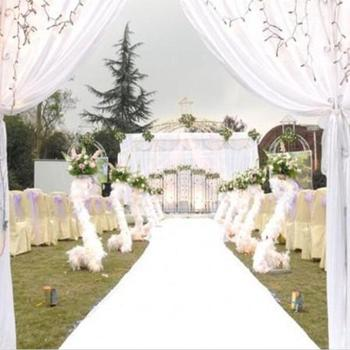 10 m/roll 1m 1.2m 1.5m Wide White Nonwoven Carpets Aisle Runner For Wedding Centerpieces Party Decorations Supplies Free Shipp