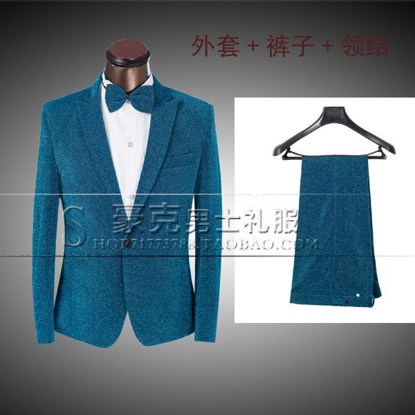 2015 Men Fashionable Groom Tuxedos Men\'s Wedding Suit Best Men Prom ...