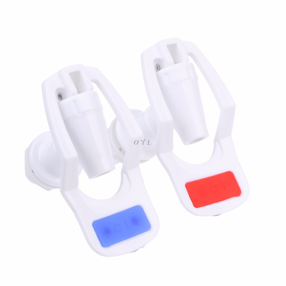 2 Pcs Water Dispenser Replacement Push Type White Plastic Tap Faucet Kitchen drinking supplies2 Pcs Water Dispenser Replacement Push Type White Plastic Tap Faucet Kitchen drinking supplies