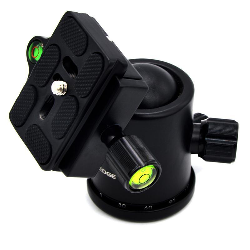 Professional KF-0 Camera Tripod Ball Head Aluminum Alloy Ballhead Panoramic Sliding Rail Head With 2 Built-in Spirit Levels