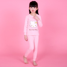 YAUAMDB kids sleepwear 2017 spring autumn 4-12Y boys girls cotton pajamas sets minions animal casual children clothes Y29