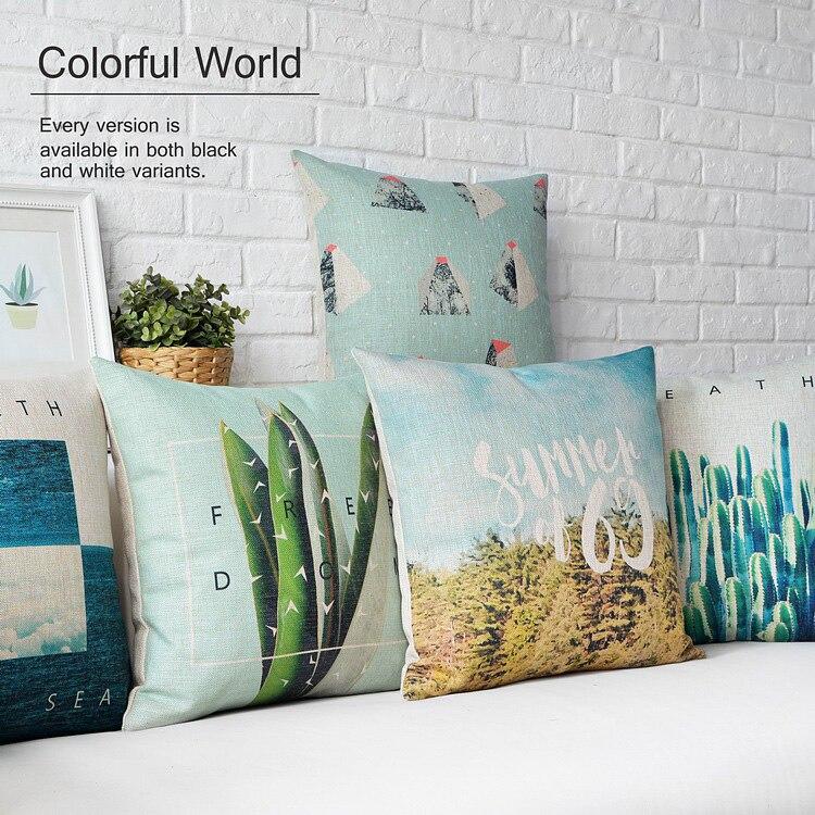Turquoise Pillow Cushion,Teal Blue Pillows Decorate,Modern Geometric Pillows  Cushion Cushions,Green Decorative Pillow