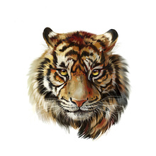 3D Tiger Iron On Patches Easy Print By Household Irons 2018 New T-Shirt Diy Decoration A-Level Washable Parches Ropa Patches
