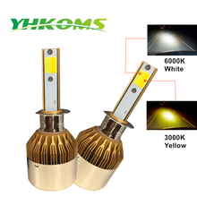 YHKOMS H1 LED Bulb H7 LED H3 880 881 H27 9005 HB3 9006 9012 HB4 H8 H11 H4 Car LED headlight Fog Light 3000K 6000K Auto Headlamp