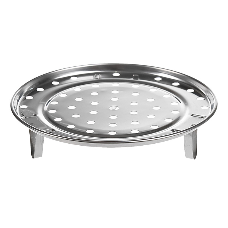 New Steamer Shelf Rack Stainless Steel Stand Pot Steaming Tray Cookware Kitchen Accessories XOA88