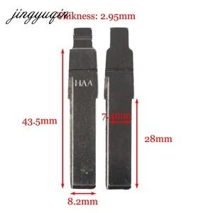 Image 2 - jingyuqin 15pcs/lot HAA Flip Remote Car Key Blanks For AUDI Fit VW PASSAT BORA SEAT SKODA #31 HU66 Key Blade