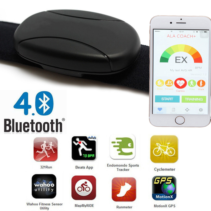 heart rate monitor bluetooth android wahoo fitness strava runtastic 60beat BLUE sports t ...