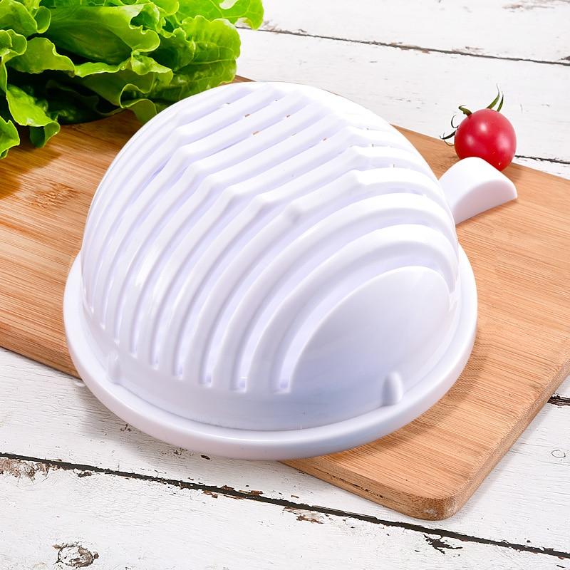 Upgrade 1 minute Salad Cutter Bowl Vegetable Fruits Slicer Chopper Washer And Cutter Quick Salad Maker Kitchen Gadget home tools 5