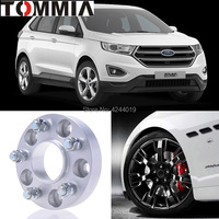 Fits Ford Edge 2PCS Wheel Hub Centric Spacers Tire Adapters Rims Flange 5x114.3 Center Bore 63.4mm Aluminum