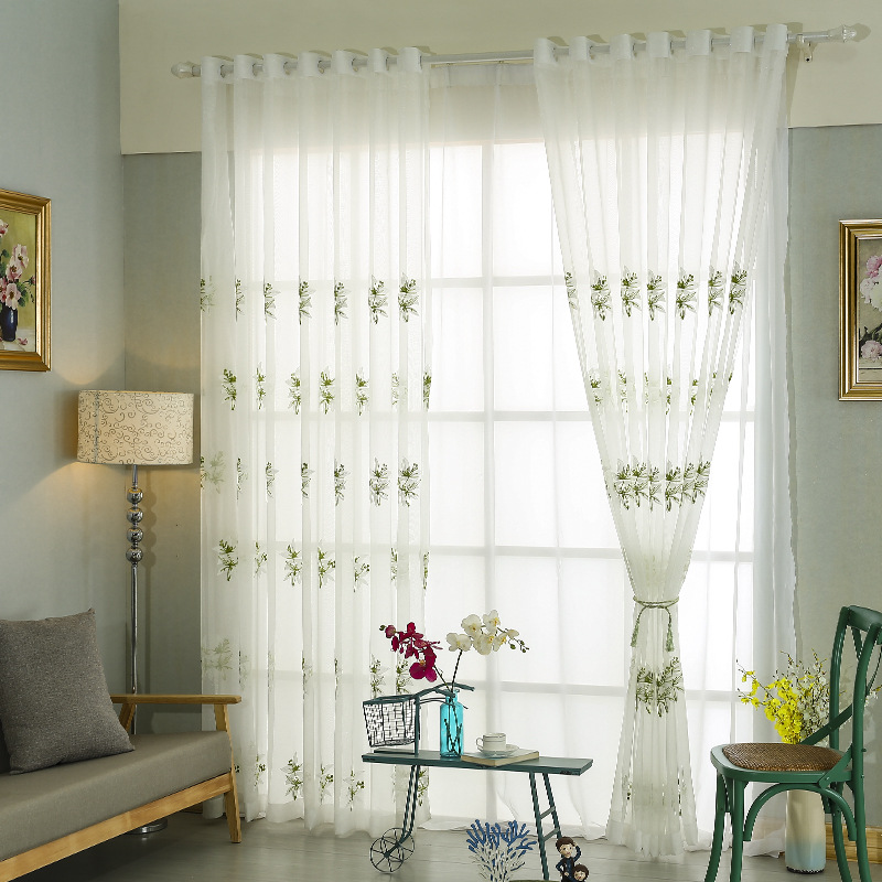 Dining Room Curtain Panels: Sheer Curtains For Living Room Dining Room Fresh Green