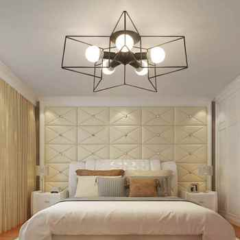 60CM large suction dome light modern minimalist creative personality bedroom living room ceiling lamp Nordic geometric 2017 zcl