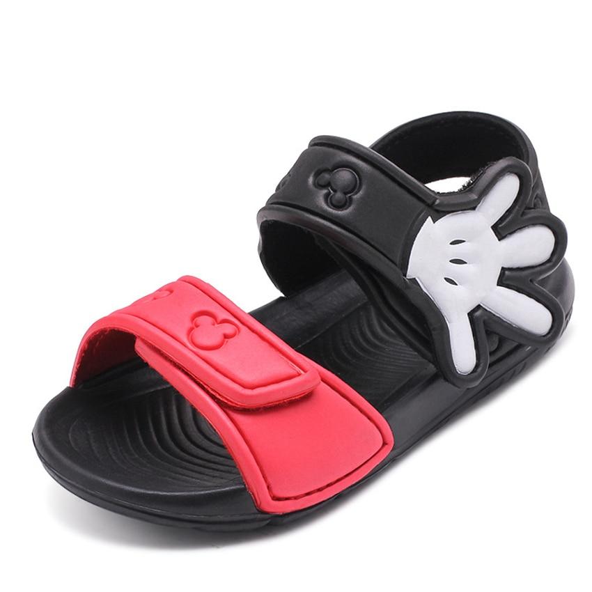 2018 Baby Girls Boys Sandals Children Summer Shoes EVA Soft Peep-toe Flat Beach Sandals Palm Cartoon Toddlers Kids Shoes 23-31