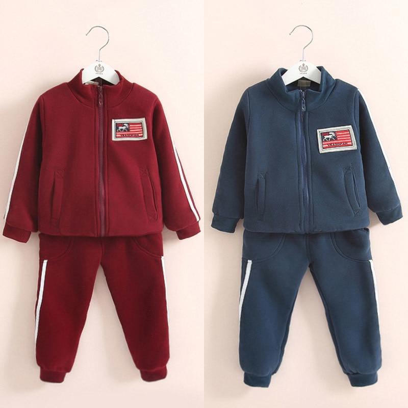ФОТО Tz-1027 2017 Spring Clothes Korean New Pattern Digital Catamite Children's Garment Baby Children Motion Leisure Time Suit