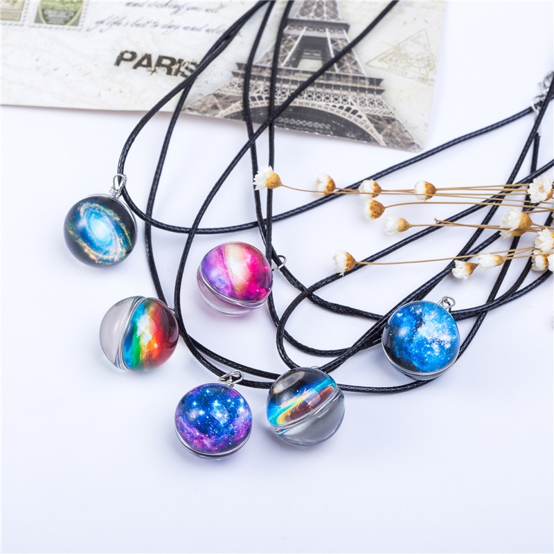 HTB1gViaKVXXXXc7XXXXq6xXFXXXu - Collares Duplex Planet Crystal Stars Ball Glass Galaxy Pattern