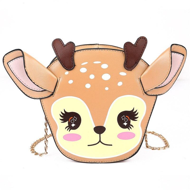 Lolita Woman Deer Shoulder Bag Handbag Crossbody Lolita Girl Zipper Chain Kawaii GiftLolita Woman Deer Shoulder Bag Handbag Crossbody Lolita Girl Zipper Chain Kawaii Gift