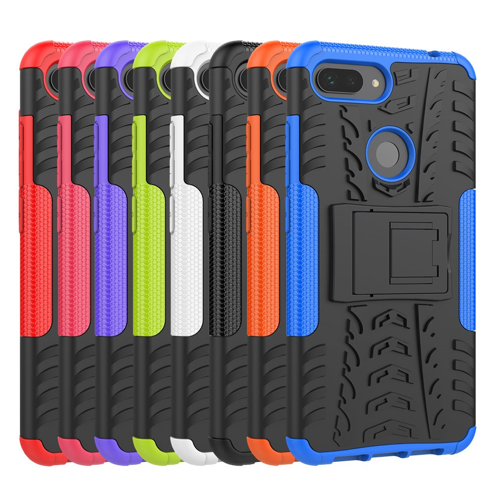 Hybrid Armor Case For <font><b>Xiaomi</b></font> Mi 8 Lite M1808D2TG <font><b>128GB</b></font> 64GB Cases TPU Silicone Heavy Duty Cover For <font><b>Xiaomi</b></font> Mi 8Lite Full Housing image