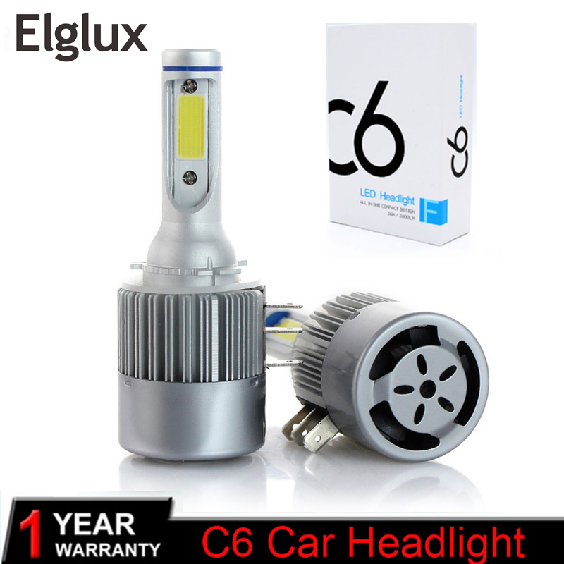 Elglux H15 Car Led Bulb Lamp Super Bright COB LED Headlight  Auto LED Headlamp Replacement Canbus Error Free For Cars Automobile