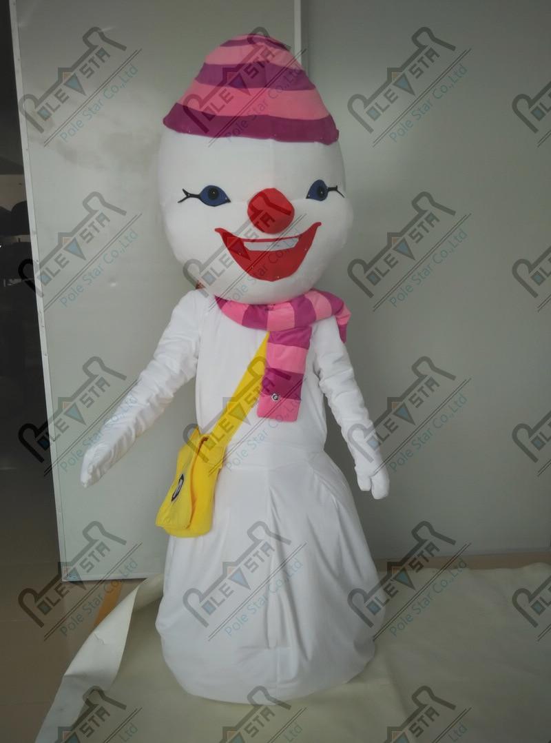 hacer a mano dibujos animados muñeco de nieve trajes de la mascota - Disfraces