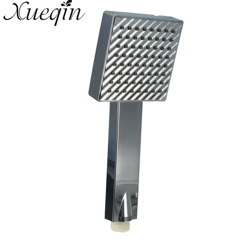 Xueqin Polished Adjustable Square Fixed Shower Head Water Saving Handset High Pressure Hand Held Chrome Bathroom