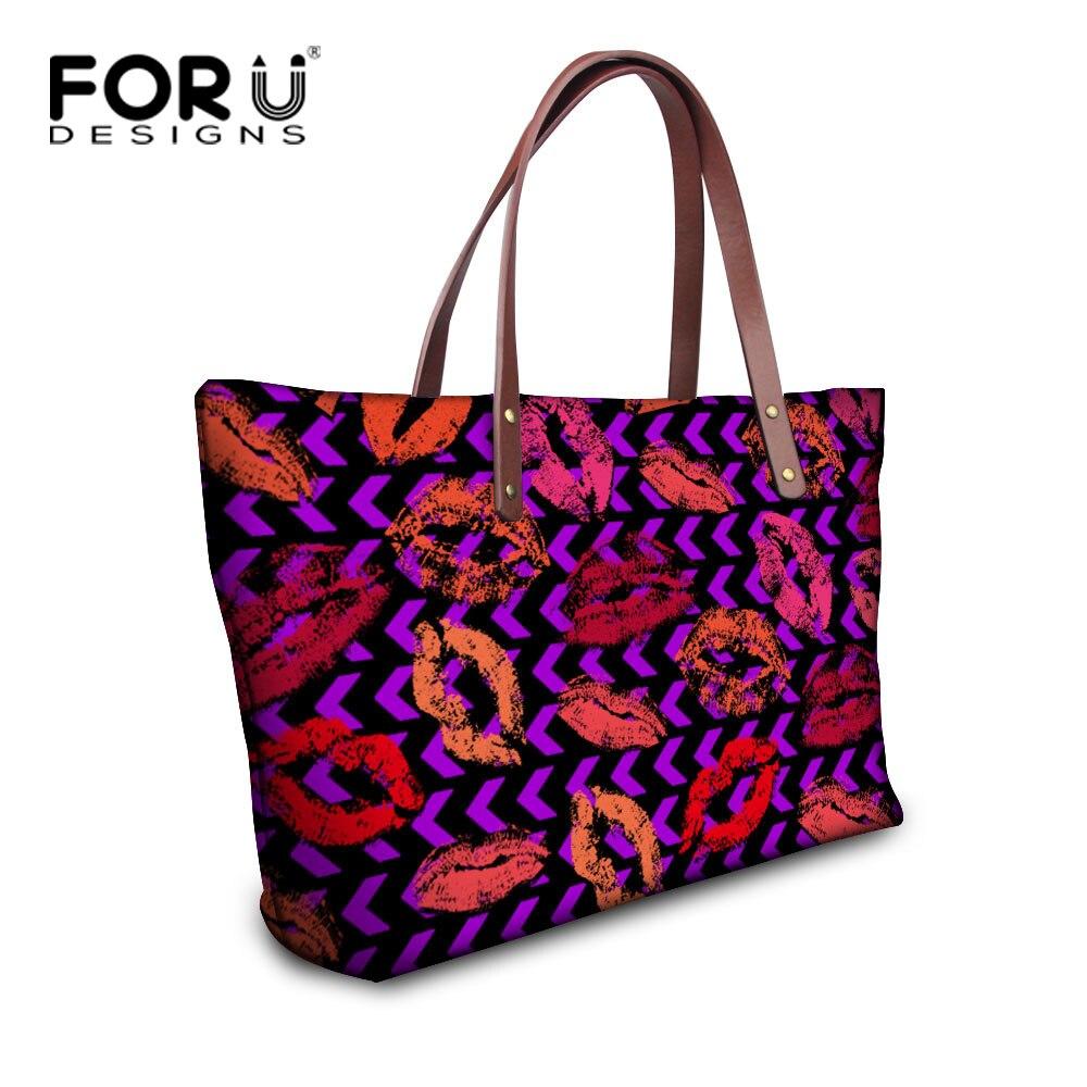 e4052bbab2 Forudesigns bolsas de marcas de luxo para as mulheres, senhoras lips  imprimir grandes sacolas, famoso designer mulher bolsa de ombro, meninas  bolsa