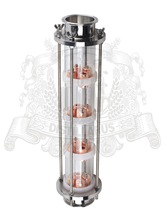 3″ Glass column for distillation. With copper bubble plates 4pcs.
