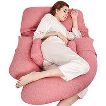 Luxury Super Soft Bedding Full Body Pillow for Pregnant Women U Type Pregnancy Pillow Long Side Sleeper Maternity Nursing Pillow