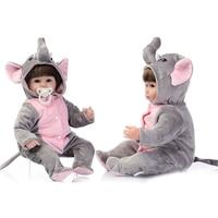 NPK25/40cm Simulation Baby Doll Reborn Baby Doll Silicone Dolls Lifelike Dolls Lovely Elephant Reborn Toddlers Toys For Children