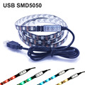 IP65 waterproof DC5V USB LED strip 5050 RGB Flexible Light TV LED strip Adhesive Tape 30LEDs/m