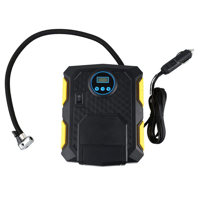 Portable Air Pump for Inflatables : Digital Tire Inflator 12V