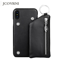 JCOVRNI Luxury leather wallet phone shell for iPhone 6 6plus bracket and memory card for iPhoneX mobile phone back cover wallet