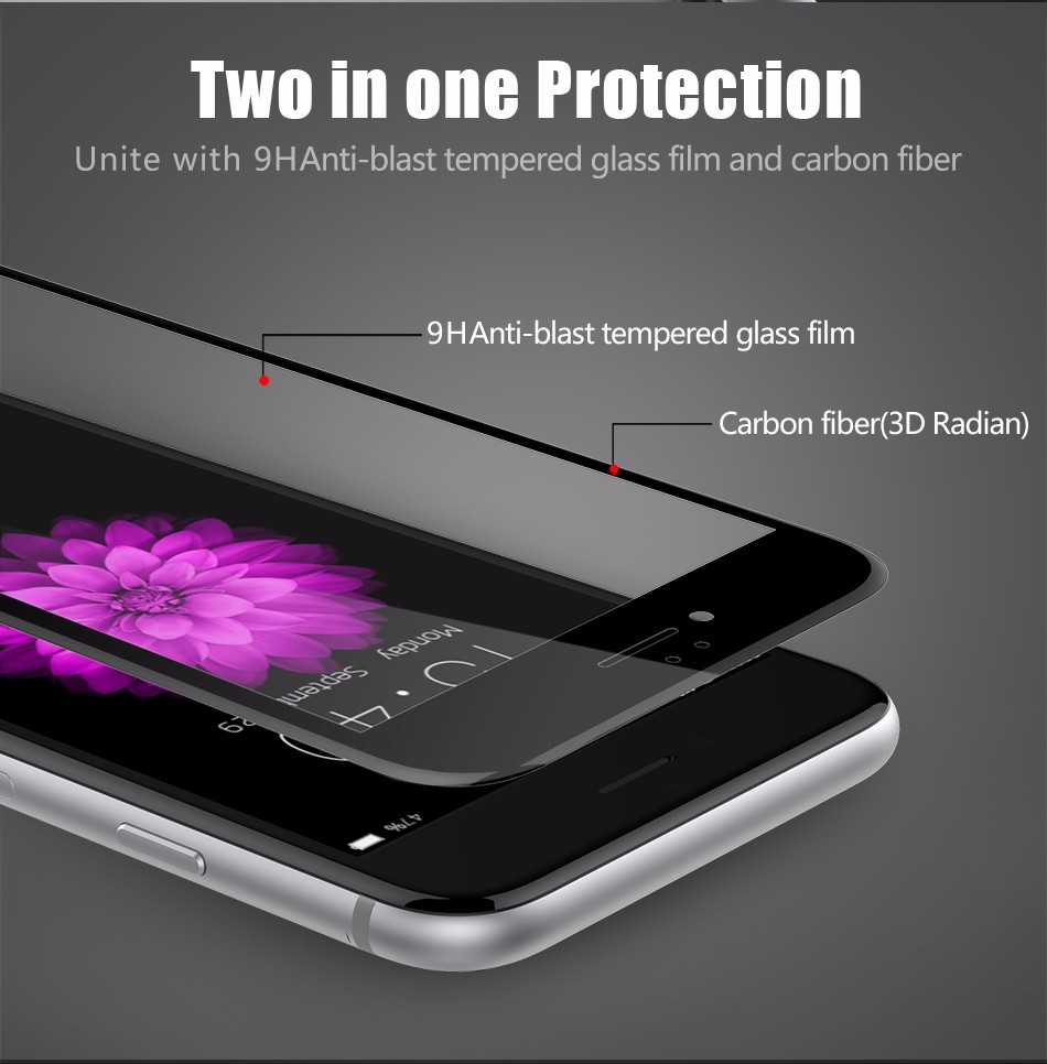 Temper glass screen protector for iphone 6 6s plus (4)