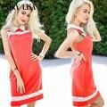 LISA 2016 oficina De Empalme del cordón del verano vestido de partido atractivo sin mangas del vestido ocasional de las mujeres más el tamaño de la vendimia vestidos de ropa barata de china