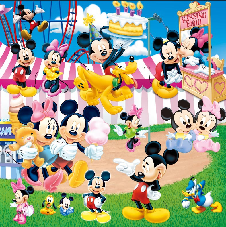 8x8ft Mickey Mouse Minnie Donald Playground Amusement Park Kissing