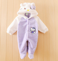 Spring Newborn Baby Romper Winter Baby Jumpsuit Clothing Infant Hooded Unisex Baby Clothes Flannel Toddler Girl