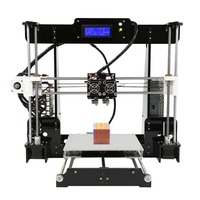 Hot Sale 3D Printer Dual Extruder Double Colors Printing Prusa i3 with Heated Bed High precisio Free Testing Filament US