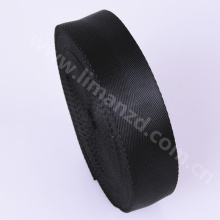 25mm black polyester webbing herringbone tape fake nylon