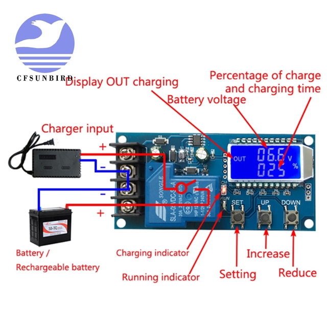 New 6-60v 30A Lead-acid Solar Battery Charge Controller Protection Board charger Time switch 12v 24v 36v 48v battery capacity