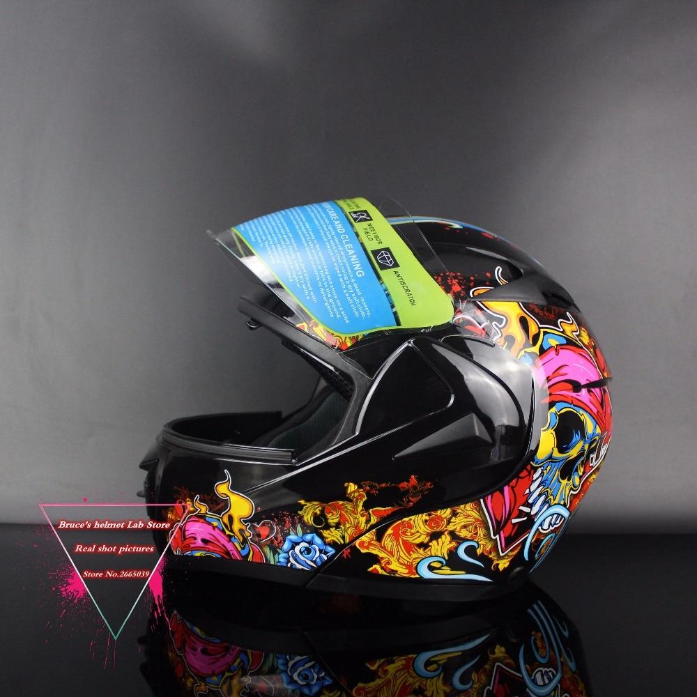 Dual Visor Flip Up helmet motorcycle helmet racing Motorcross helmet DOT open face helmets free shipping Size M L XL MD808