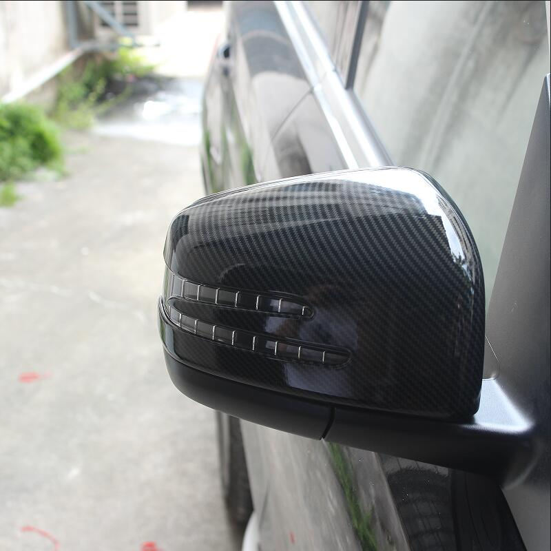 car styling rearview mirror shell carbon fiber pattern stickers car mirror cover for Mercedes benz ML W163 W164 GL GLS GLE coupe
