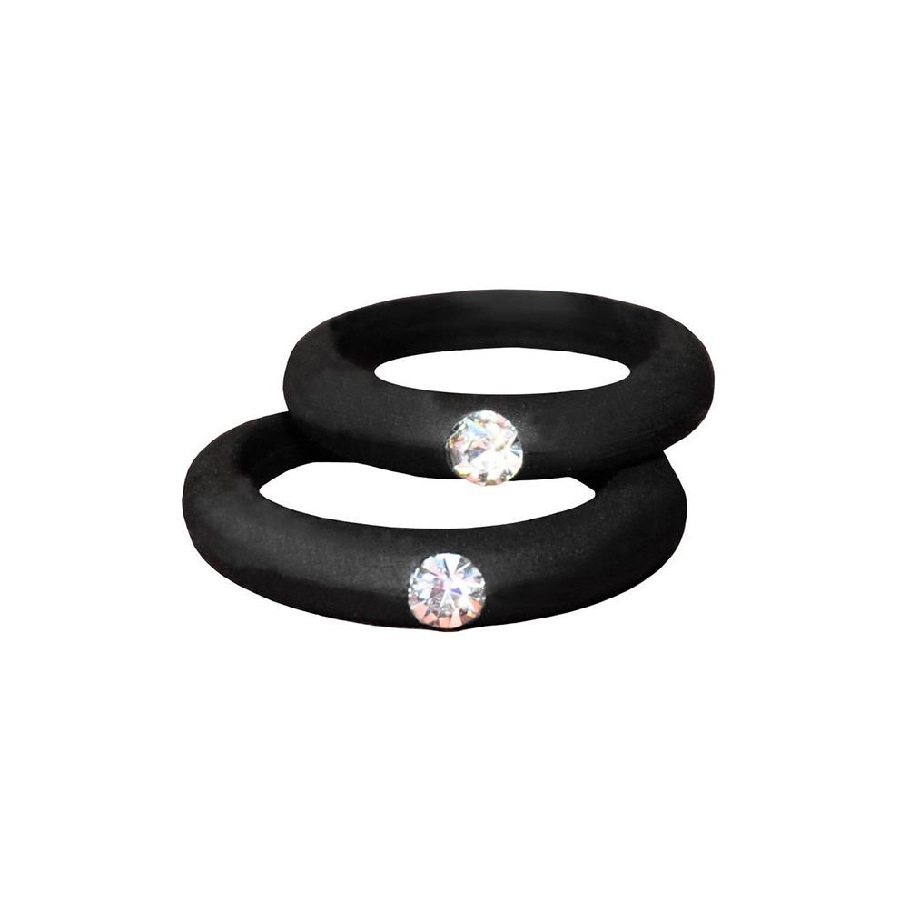 It is just a graphic of Hot Fashion Women Silicone Wedding Band Rhinestone Ring Party